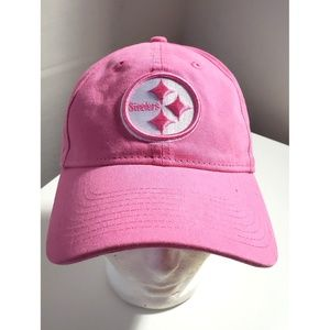 NFL Pink Canvas Embroidered Steelers Ball Hat